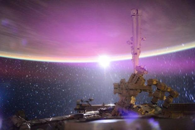 A világ érdekes űr Föld fénykép fotó Scott Kelly űrhajós