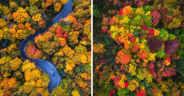 A világ érdekes ősz színek USA észak-kelet