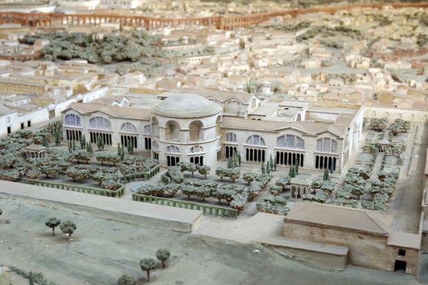Ókor Róma I. Konstantin császár makett modell térkép A világ érdekes