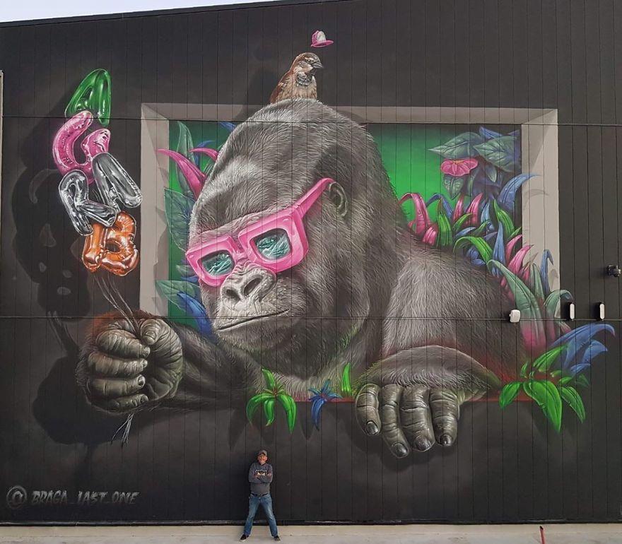 graffiti  3D Braga Last One