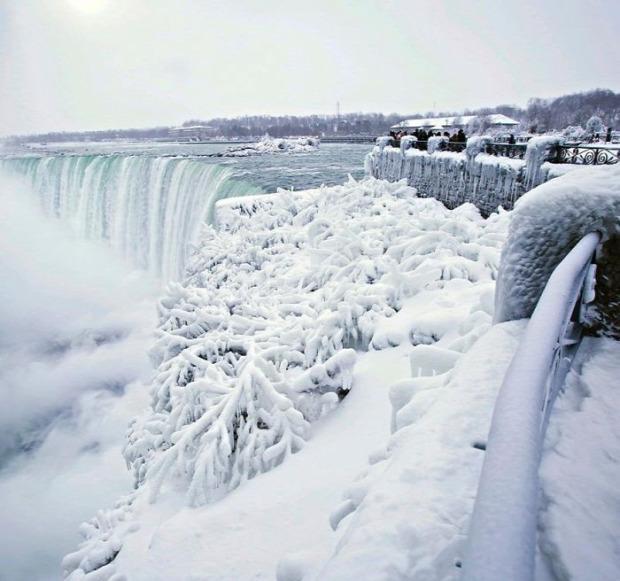 USA Kanada Amerika fagy hideg rekord Niagara