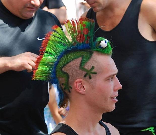 A világ érdekes haj frizura