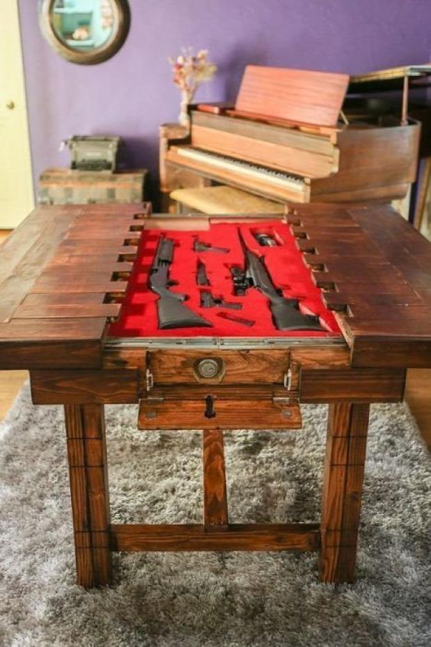 A világ érdekes fegyver puska pisztoly rejtekhely