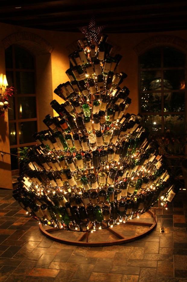 karácsonyfa üveg palack alkohol pia
