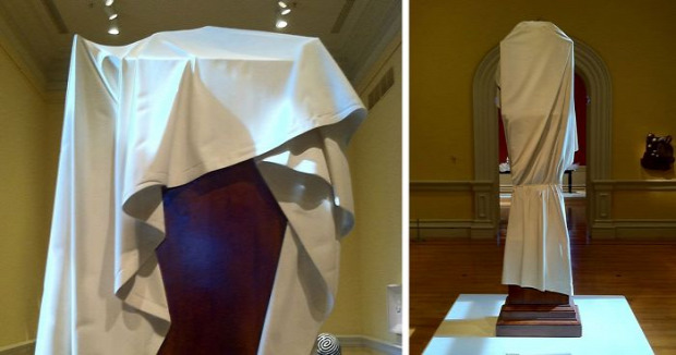 A világ érdekes múzeum óra letakart kendő faragás