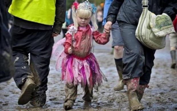 A világ érdekes Anglia Worthy farm Glastonbury fesztivál sár