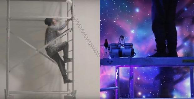 A világ érdekes UV ultraviola festés szoba