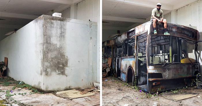 graffiti  3d a világ érdekes portugál Sergio Odeith