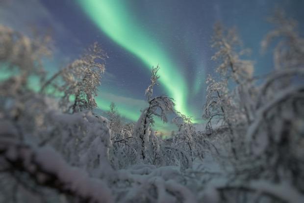 A világ érdekes északi fény sarki fény Norvégia