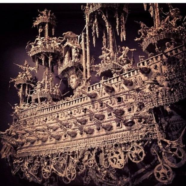 hajó makett kísértethajó