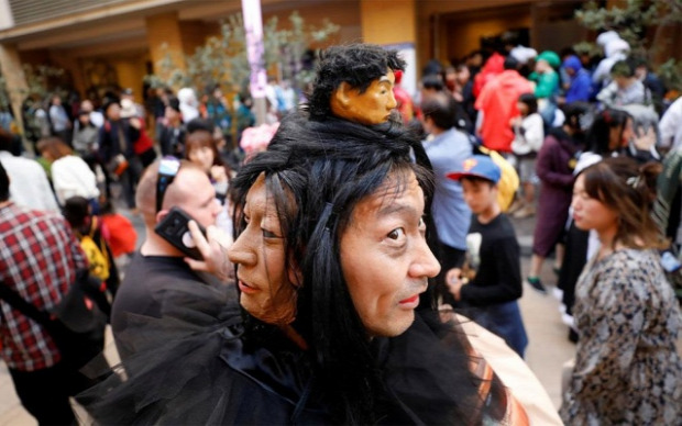 A világ érdekes halloween horror Japán
