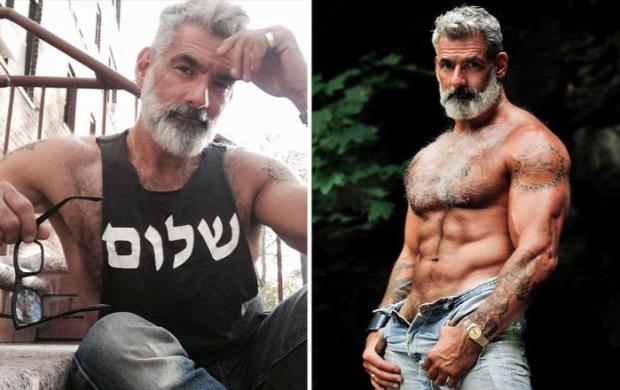 A világ érdekes macsó férfi ősz szakáll