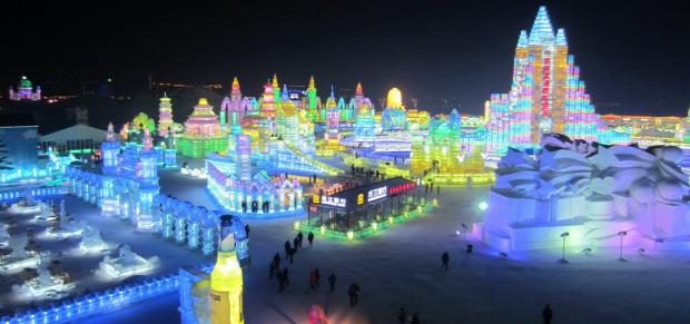 A világ érdekes Kína Habin fesztivál hó jég szobor