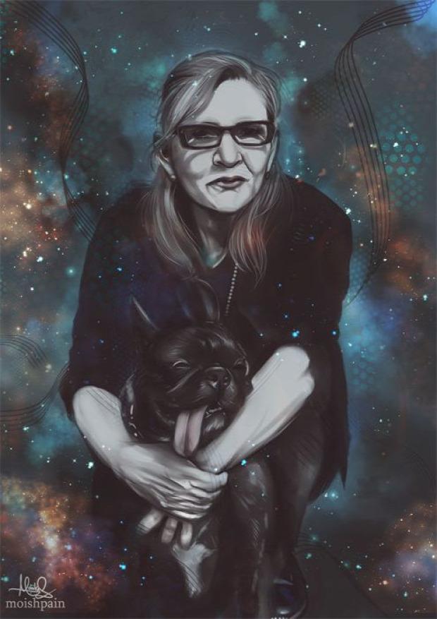 A világ érdekes Carrie Fisher búcsú művészek