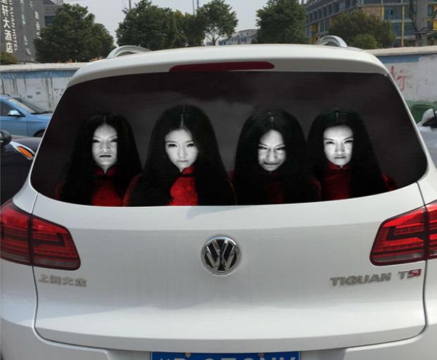 A világ érdekes Kína autó matrica ijesztő horror villogás
