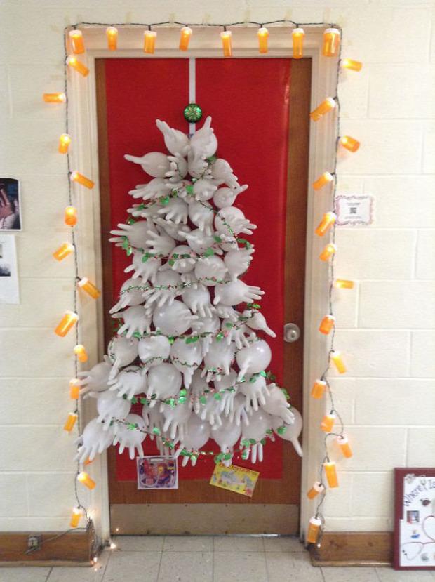 A világ érdekes kórház karácsony dekoráció karácsonyfa