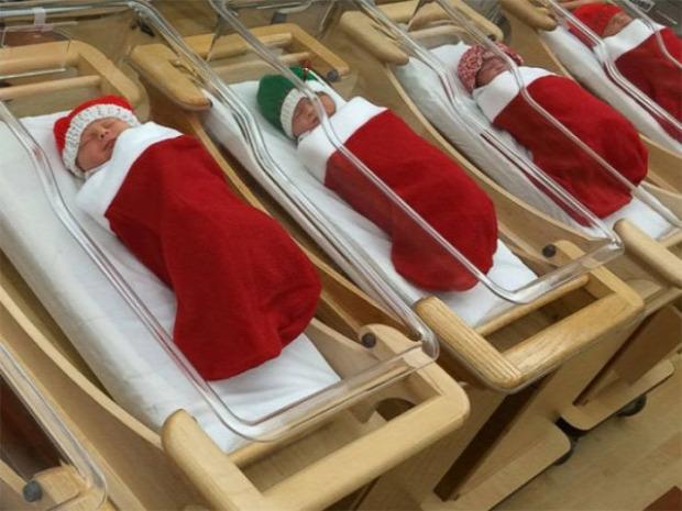 karácsony kórház dekoráció
