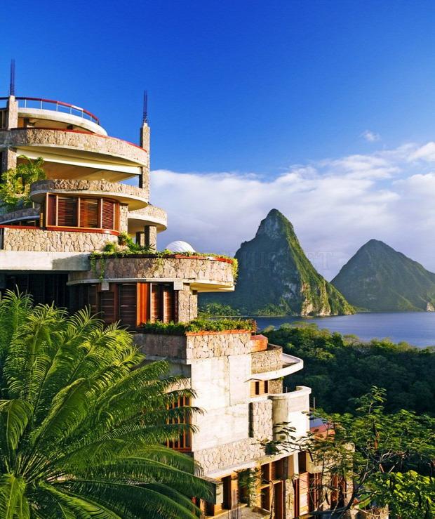 A világ érdekes Karib luxus szálloda St. Lucia