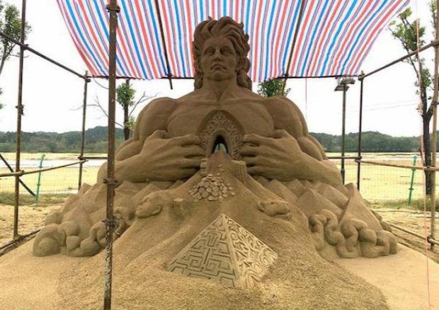 A világ érdekes Toshihiko Hosaka homok