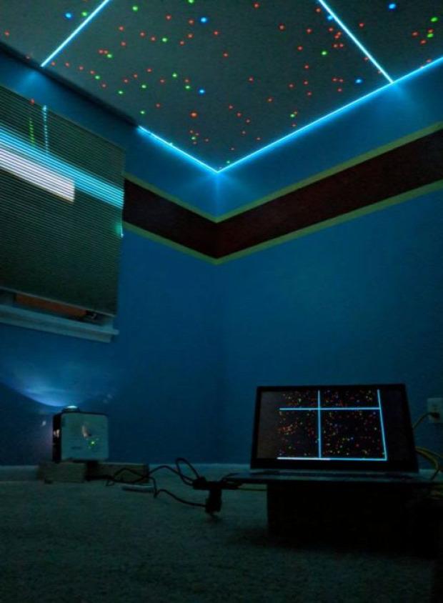 A világ érdekes gyerek szoba plafon csillagos ég