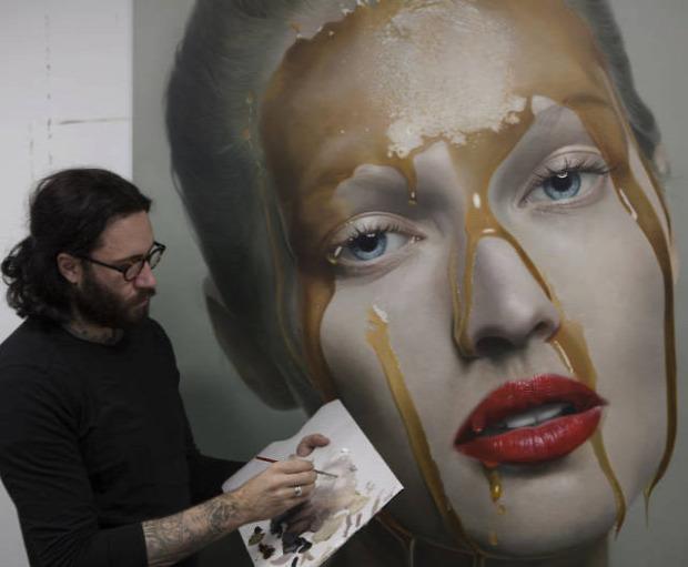 A világ érdekes festészet hiperrealisztikus Mike Vargas
