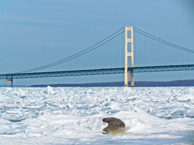 A világ érdekes Michigan-tó jég