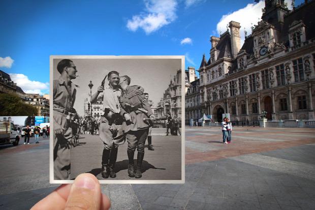 A világ érdekes Párizs fotó kombinált