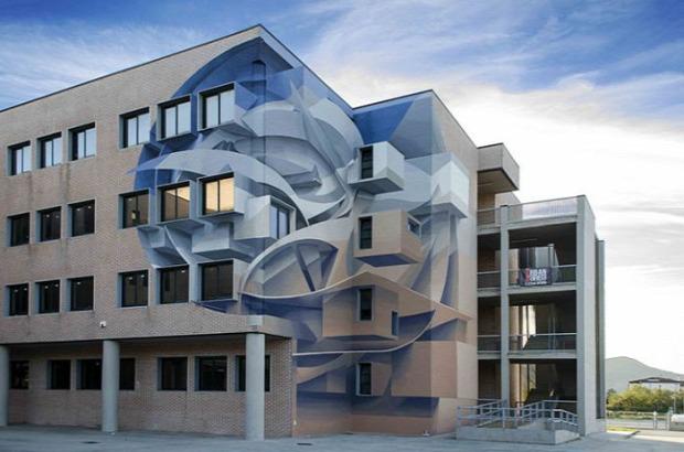 A világ érdekes street art utcai művészet graffiti  3D