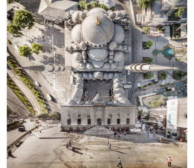 A világ érdekes Isztambul látkép görbült eredet