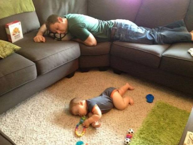 A világ érdekes gyerek alszik