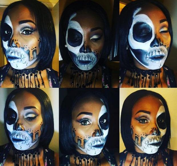 A világ érdekes Halloween smink