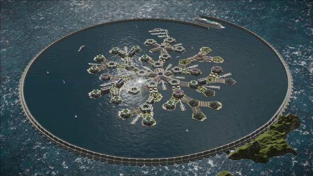 lebegő úszó sziget mesterséges