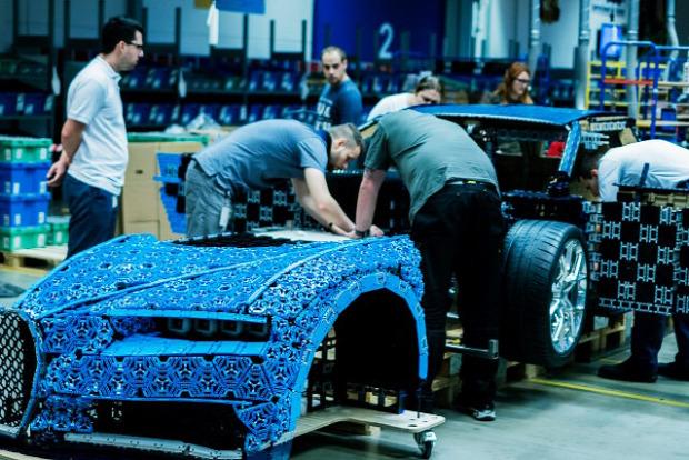 A világ érdekes Bugatti Chiron LEGO