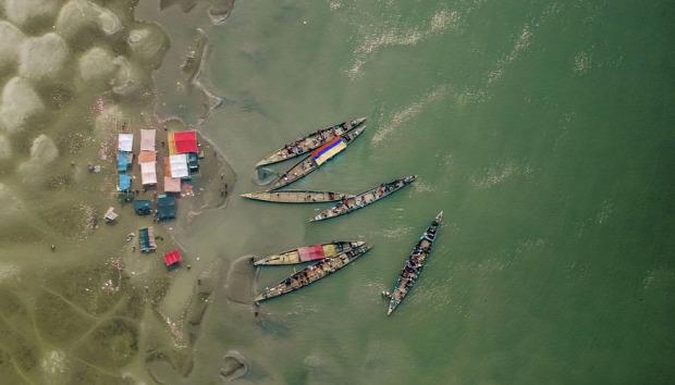A világ érdekes Banglades légifelvétel