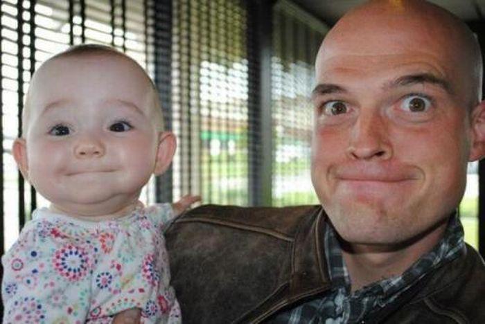 A világ érdekes apa fia gyerek hasonlóság genetika