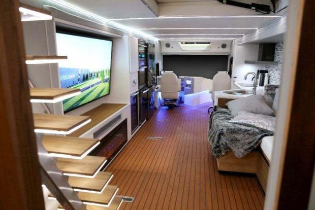 A világ érdekes otthon lakás guruló luxus busz kamion