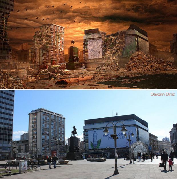 A világ érdekes Nis Szerbia város pusztulás armageddon