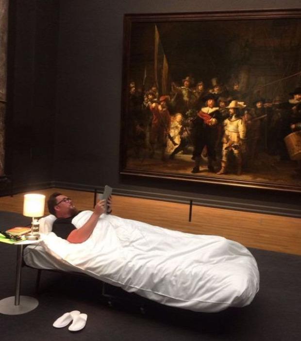 A világ érdekes Hollandia Rijksmuseum Éjjeli őrjárat múzeum vendég jubileum