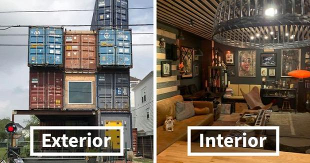 A világ érdekes konténer szállító ház