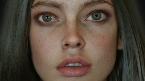 A világ érdekes 3D művészet grafika élő arc