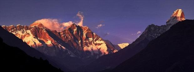 A világ érdekes Himalája Mount Everest Csomolungma