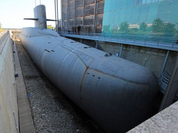 A világ érdekes Franciaország tengeralattjáró rakéta hordozó múzeum Cherbourg Cité de la Mer Redoutable