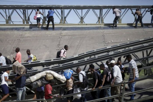 Haiti leomlott híd