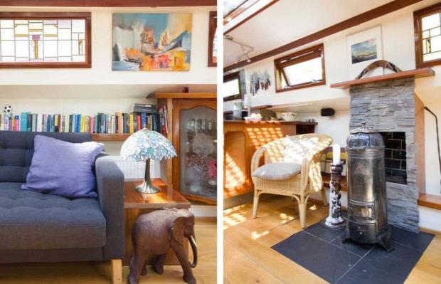 A világ érdekes uszály lakás otthon Amszterdam