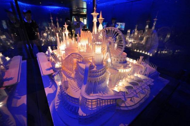 A világ érdekes papír kastély