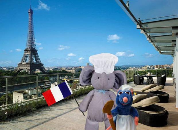 A világ érdekes Photoshop plüss elefánt világjáró