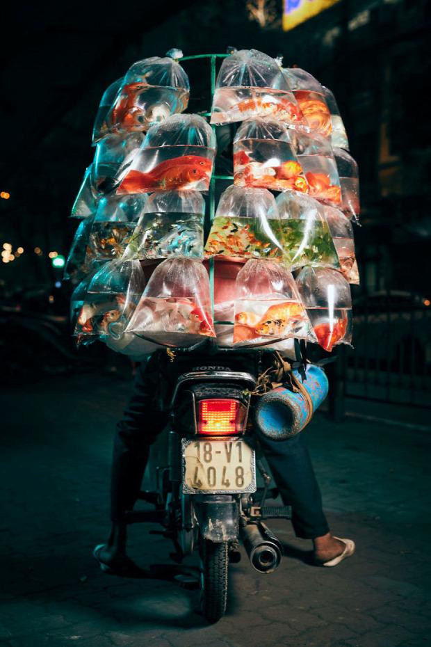 A világ érdekes hanoi motor kismotor robogó moped szállító