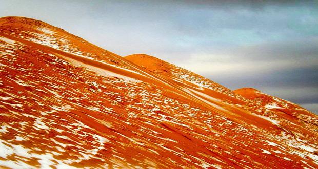 A világ érdekes Algéria Szahara hó