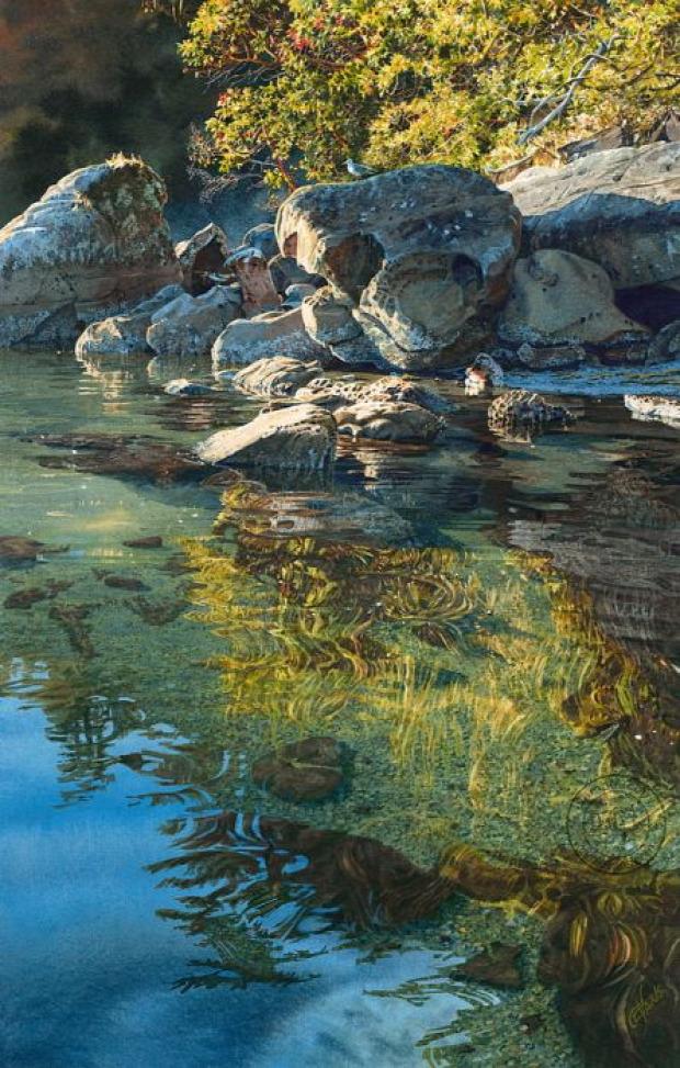 A világ érdekes festészet vízfestés hiperrealisztikus