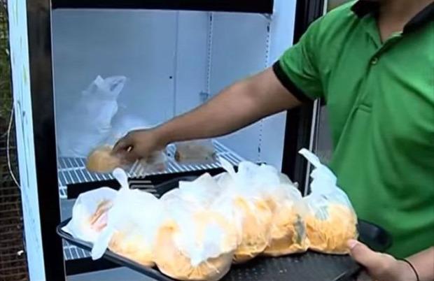 A világ érdekes india utca étterem hűtő maradék